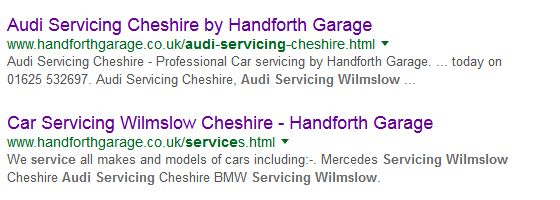 No 1 for Audi Servicing Wilmslow