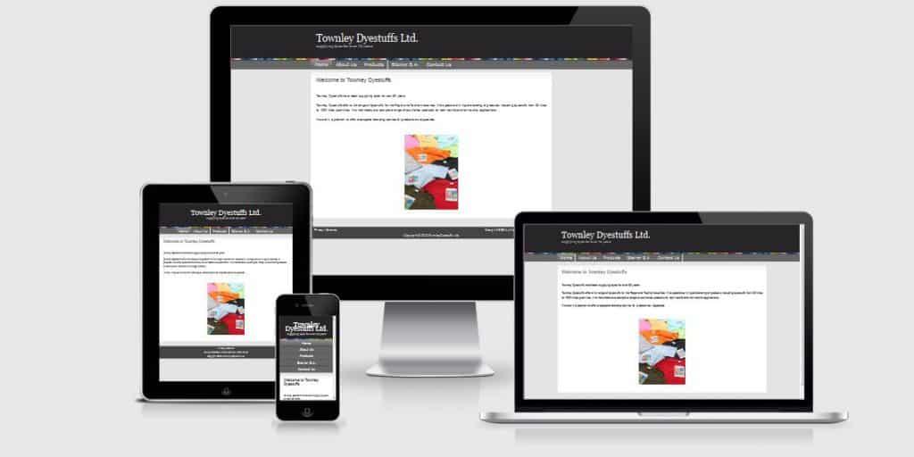 TownleyDyestuffs - Responsive Website
